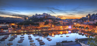 Torquay Harbour by Night (Small)