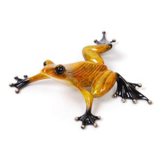 Sneaky Pete (Solid Bronze Frog Sculpture) by Tim Cotterill Frogman Torquay Devon