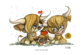 Always and for Heifer - Caricature Cows