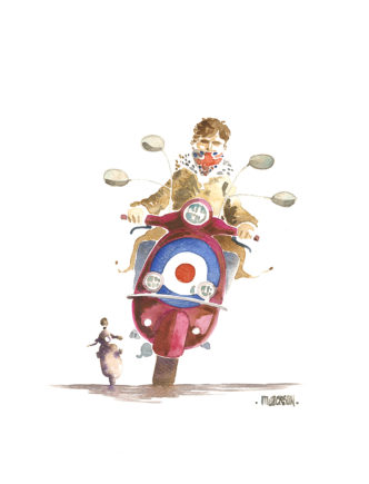 British Bullseye - Mod roiding scooter