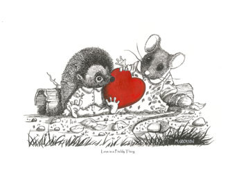 Love is a Prickly Thing - Hedgrow animals
