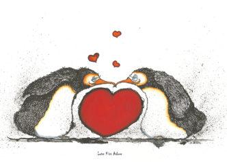 Love Kiss Adore - Penguins