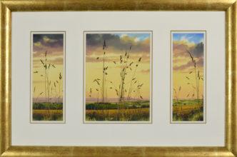 Lilac Days Triptych Original