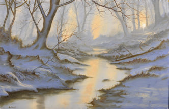 Winter River by Alan Kingwell