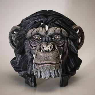 Chimpanzee Bust by Matt Buckley Edge Sculpture