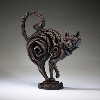 Cat Black Sculpture by Matt Buckley Edge Sculpture