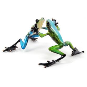 Jitter Bug (Solid Bronze Frog Sculpture) by Tim Cotterill Frogman Torquay Devon