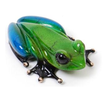 Zen (Solid Bronze Frog Sculpture) by Tim Cotterill Frogman Torquay Devon
