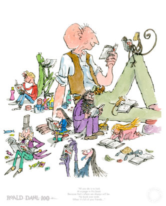 Roald Dahl 100th Birthday Print by Quentin Blake