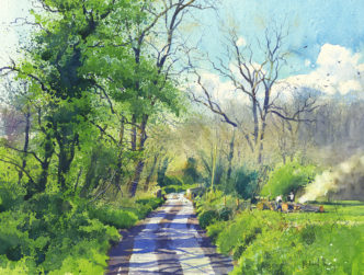 Spring Clearing Original Watercolour