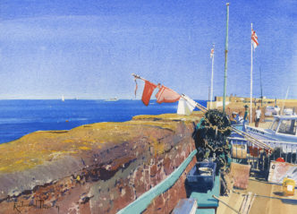 The Old Harbour Wall by Richard Thorn