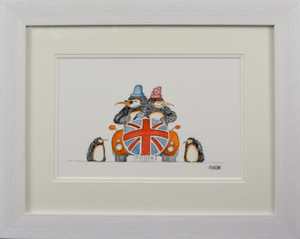 Posers - Penguins Original Painting by Mike Jackson