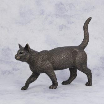 Ben walking Cat by Suzi Marsh