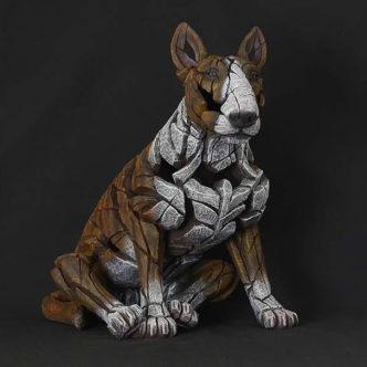 Bull Terrier brindle by Matt Buckley Edge Sculpture