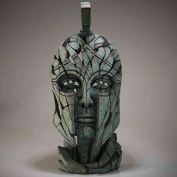 Spartan Bust Verdi Gris Matt Buckley Edge Sculpture