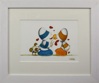 Hearts and Flowers Huddies Original Painting by Mike Jackson