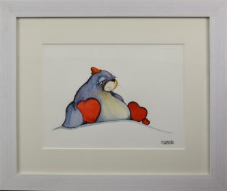 Mr Blubber Lubber Original Painting By Mike Jackson