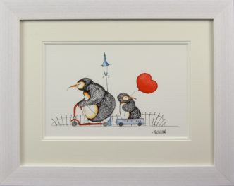 P Pick up a Penguin - Penguins Original Painting by Mike Jackson