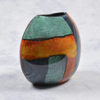 Gemstone Purse Vase 20cm by Pool Pottery