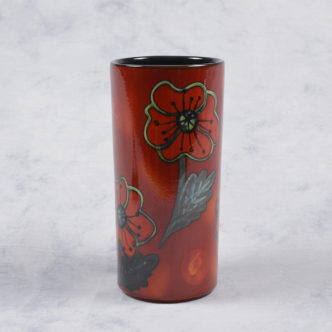 Poppy Field Pillar Vase 21cm-0