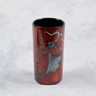 Poppy Field Piller Vase by Pool Pottery