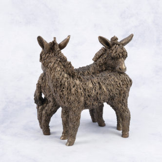 Friendly Donkeys (VB064) by Frith Sculpture