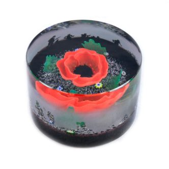 In Flanders Fields by Caithness Glass Poppies