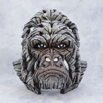 White Gorilla Bust Matt Buckley Edge Sculpture