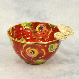 Floral Noodle Bowl by Mary Rose Young
