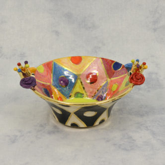 Serving Bowl (Green) by Mary Rose Young
