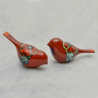 Poppy Field Birds Pair by poole Pottery