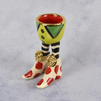 Egg Cup (Red/Red) by Mary Rose Young