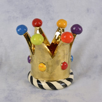 Large Crown Candle Holder by Mary Rose Young