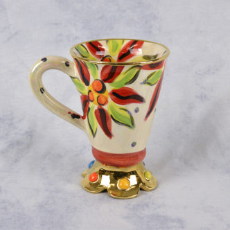 Crown Footed Mug by Mary Rose Young