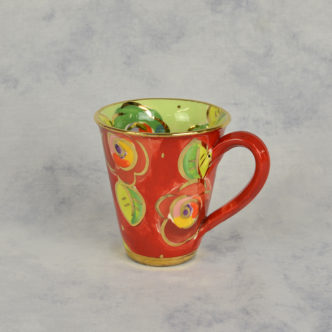 Red Flower Mug by Mary Rose Young