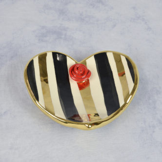Rose Heart Soap Dish by Mary Rose Young
