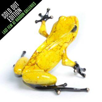 Chai (Solid Bronze Frog Sculpture) by Tim Cotterill Frogman Torquay Devon