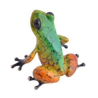 Salsa (Solid Bronze Frog Sculpture) by Tim Cotterill Frogman Torquay Devon