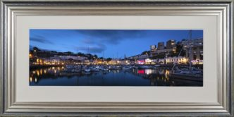 Torquay Harbour photo Print After Sunset Framed