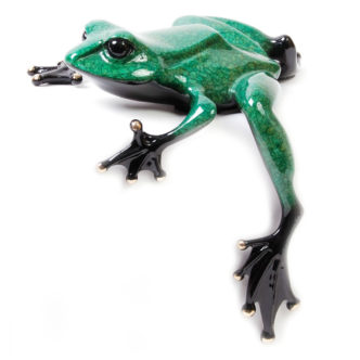 Fat Boy (Solid Bronze Frog Sculpture) by Tim Cotterill Frogman Haddon Galleries Torquay