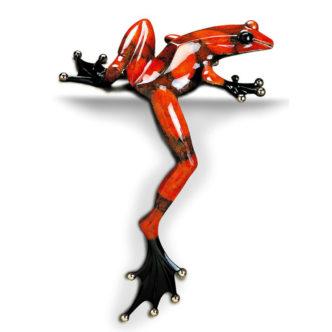 Willie Jump (Solid Bronze Frog Sculpture) by Tim Cotterill Frogman Devon