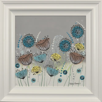 Popping Seeds Original Painting by Jennifer Crowshaw