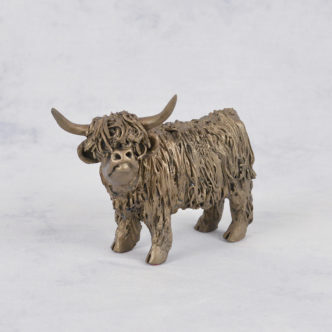 Junior Highland Cow (VB076) by Frith Sculpture
