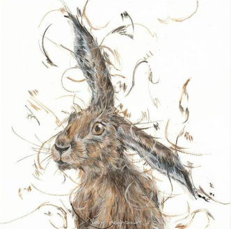 Nosy Neighbour by Aaminah Snowdon Hare art