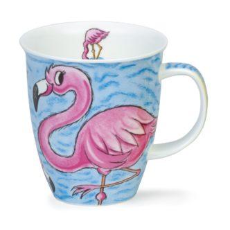 Dunoon Mugs Flamingo. British pottery.