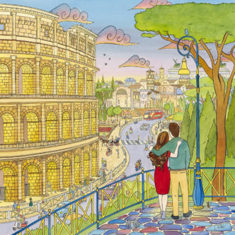 Laura Wall Love in the City Rome. Fine art print by Laura Wall.