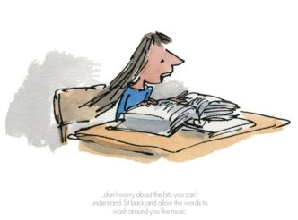 Allow The Words To Wash Around You by Quentin Blake ROald Dahl Limited Edition Print