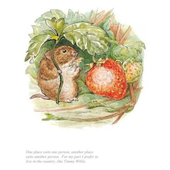 I Prefer To Live In The Country by Beatrix Potter Limited Edition Print