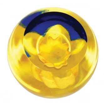 Floral Charm Daffodil by Caithness Glass