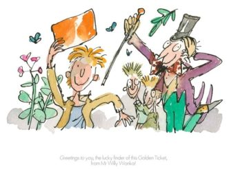 Greetings To You! by Quentin Blake Roald Dahl Limited Edition Print